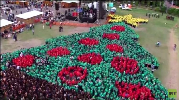بالفيديو.. رقم قياسي لأكبر شجرة لعيد الميلاد من البشر يسجل في هندوراس