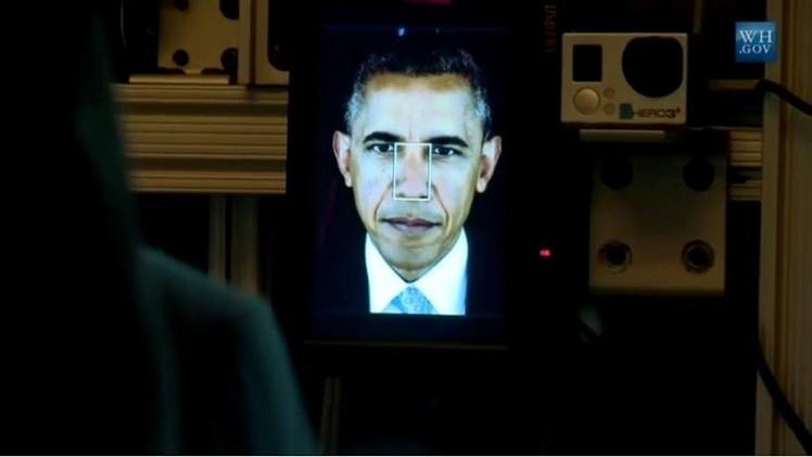 بالفيديو.. لوحات ثلاثية الأبعاد لباراك أوباما في معرض سميثسونيان
