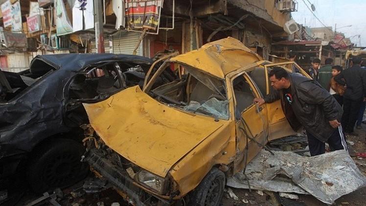 مقتل 7 من الشرطة بتفجير انتحاري شمالي بغداد