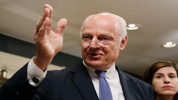 دي ميستورا إلى بروكسل لبحث سبل استئناف الحل السياسي في سوريا