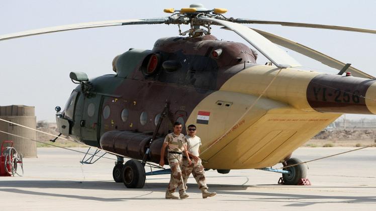 الجيش العراقي يسيطر على ناحية المعتصم ويفقد مروحية