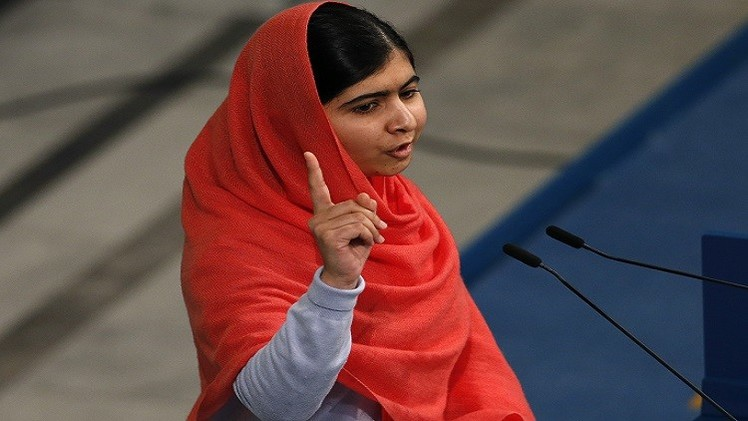 صاحبة جائزة نوبل للسلام  الناشطة الباكستانية مالالا يوسف زاي