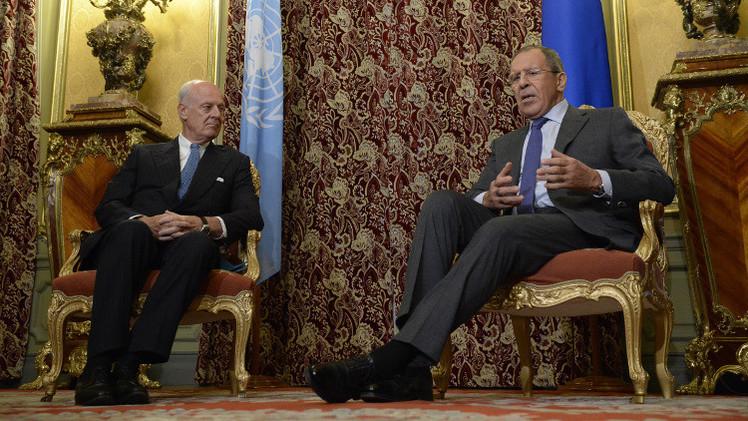 لافروف: روسيا تعمل لاستئناف عملية السلام في سوريا