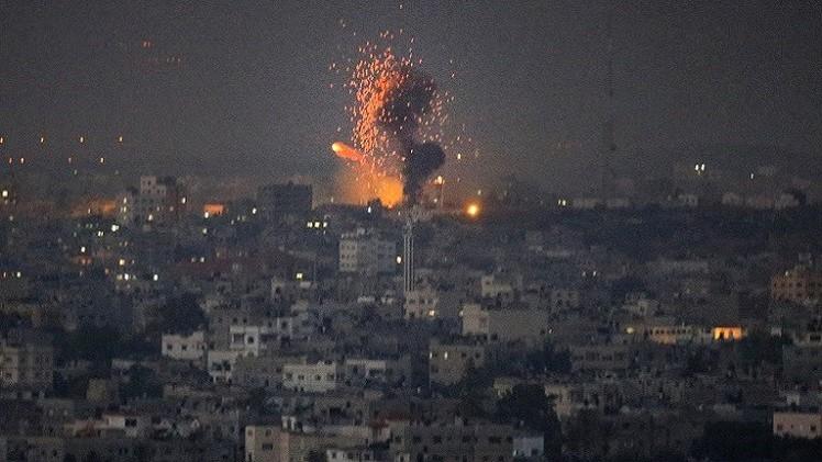 الطيران الإسرائيلي يغير على قطاع غزة