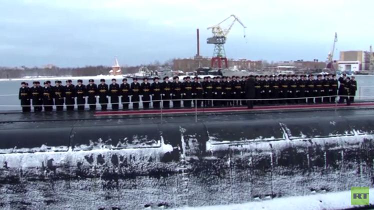 بالفيديو .. أحدث غواصة نووية تستلمها القوات البحرية الروسية