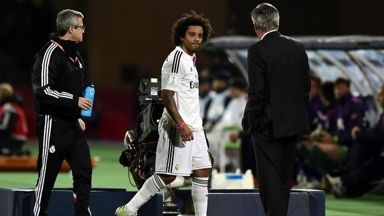 مارسيلو يغيب عن ريال مدريد لأكثر من أسبوعين