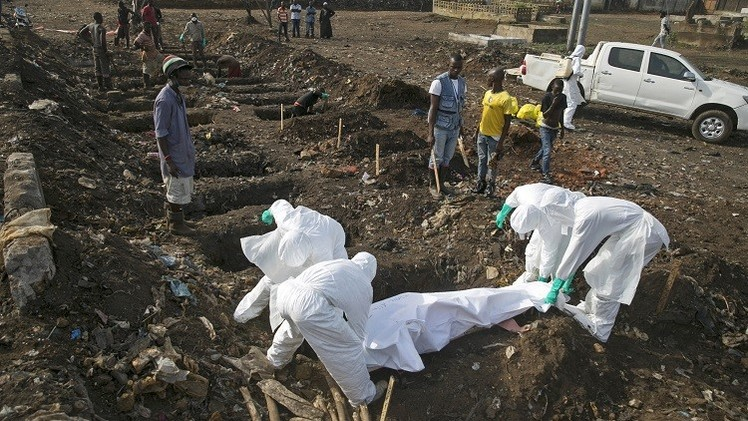 حصيلة ضحايا تفشي إيبولا تتجاوز 7570 شخصا