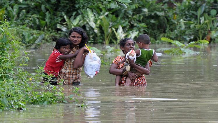 مقتل 14 شخصا وفقدان 11 في فيضانات بسريلانكا