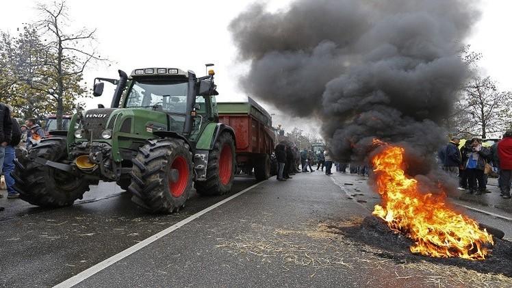 فرضت روسيا حظرا كليا لمدة عام على واردات اللحوم والألبان  والخضراوات والفواكه من الاتحاد الأوروبي
