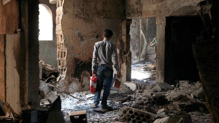 ارتفاع حصيلة الهجوم الانتحاري في إب وسط اليمن إلى نحو 50 قتيلا (فيديو)