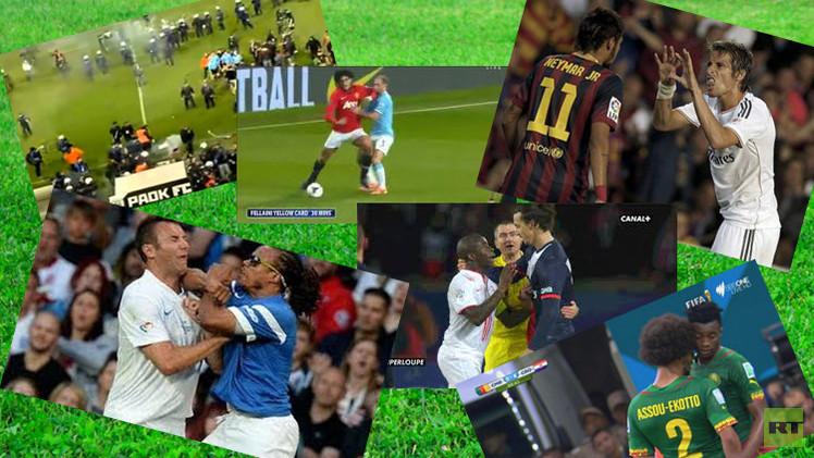 أقوى المشاجرات في عالم كرة القدم 2014