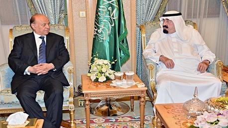 صورة تجمع ملك السعودية برئيس اليمن