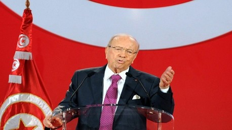 رئيس حزب نداء تونس الباجي القائد السبسي