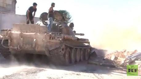 استمرار المعارك بين المسلحين والجيش السوري في حلب