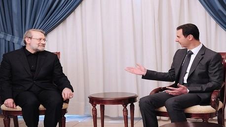 لقاء بشار الأسد علي لاريجاني