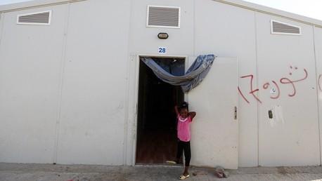 مخيم لأهالي مدينة تاورغاء في طرابلس