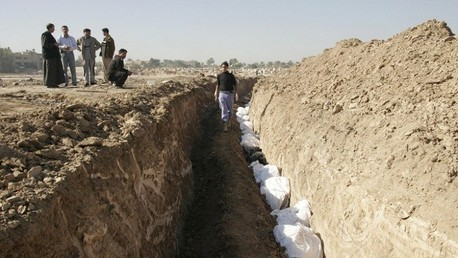 احدى المقابر الجماعية في العراق (صورة ارشيفية)