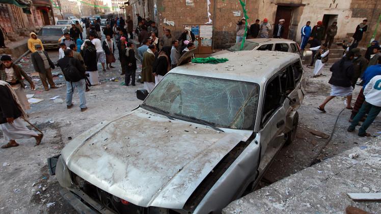 انفجار عنيف يستهدف مقرا للحوثيين وسط صنعاء
