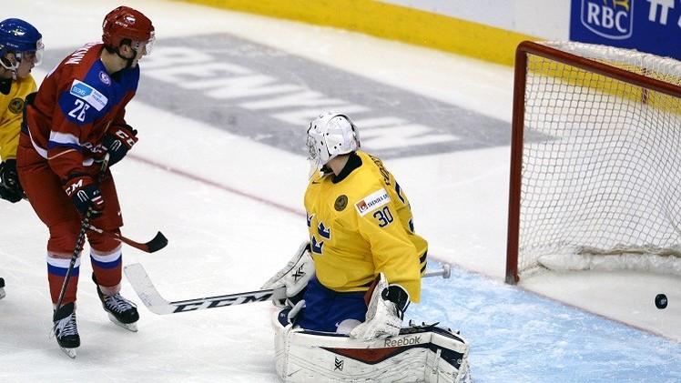 روسيا تبلع نهائي كأس العالم لهوكي الجليد