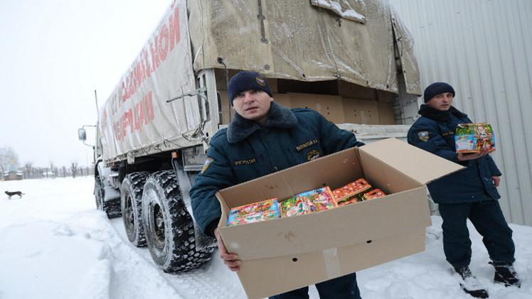 قافلة المساعدات الإنسانية الروسية الـ11 تنطلق الى الحدود الأوكرانية