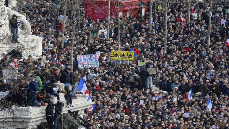 تظاهرات مليونية في فرنسا تنديدا بالإرهاب