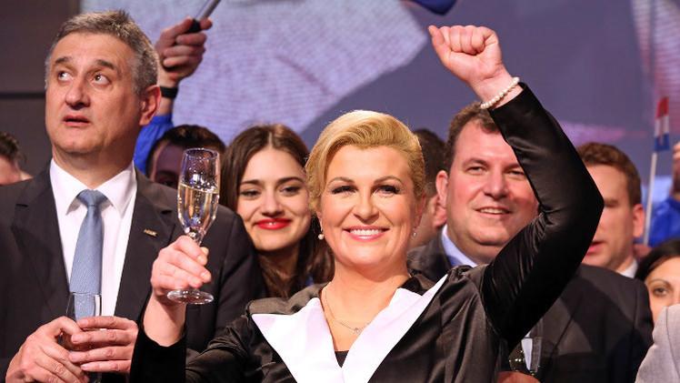 كرواتيا.. فوز مرشحة المعارضة في السباق الرئاسي