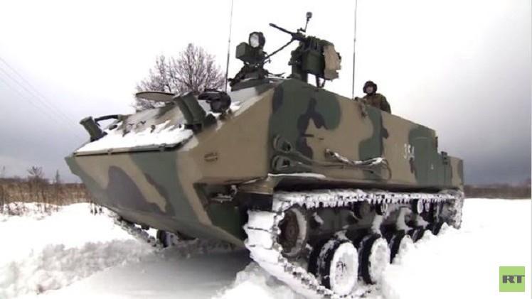 بالفيديو..تجربة أحدث ناقلة جنود مجنزرة تجري في مقاطعة تولا