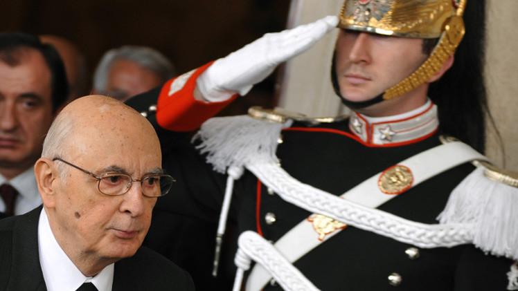 الرئيس الإيطالي جورجيو نابوليتانو يستقيل من منصبه