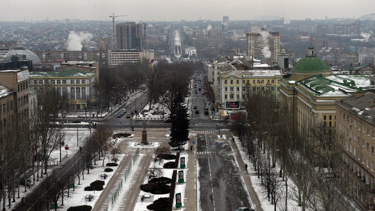 تضارب الأنباء بشأن سقوط قذيفة على حافلة في دونيتسك