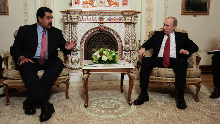 بوتين ومادورو يتفقان على تكثيف الاستثمارات الروسية في فنزويلا