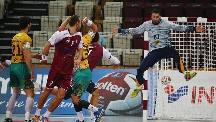 العنابي القطري يهزم البرازيل في افتتاح مونديال كرة اليد