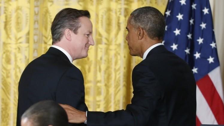 أوباما: اتفقت مع كاميرون على ضرورة العقوبات على روسيا