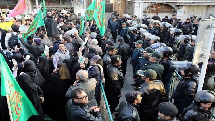 احتجاجات في طهران على رسوم صحيفة