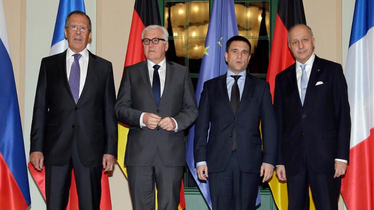 وزراء النورماندي يدعون الى وقف القتال في أوكرانيا