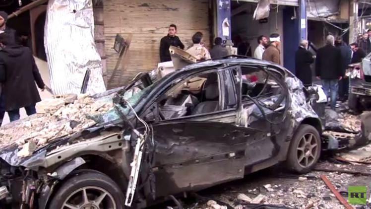مقتل 13 شخصا بينهم طفلان في قصف بريف حمص