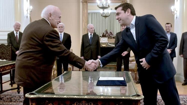 الرئيس اليوناني يكلف تسيبراس بتشكيل الحكومة الجديدة