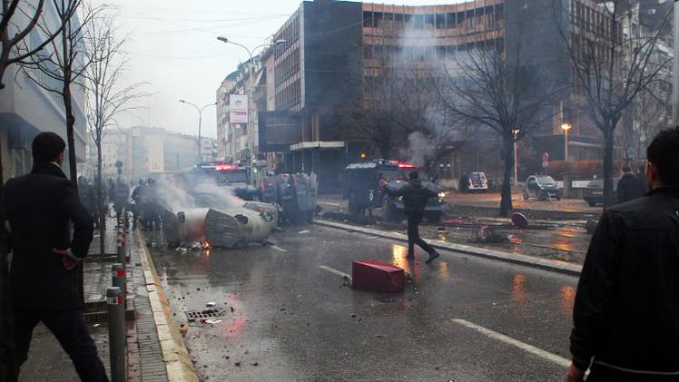 إصابة 23 شخصا خلال أعمال شغب في كوسوفو
