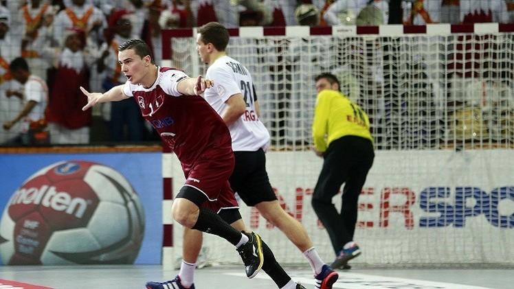العنابي القطري يهزم المانشافت الألماني في مونديال كرة اليد