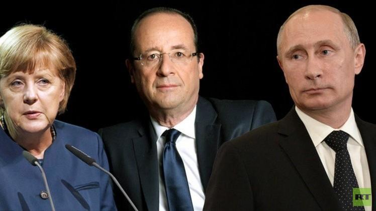 مشاورات روسية ألمانية فرنسية بشأن دونباس
