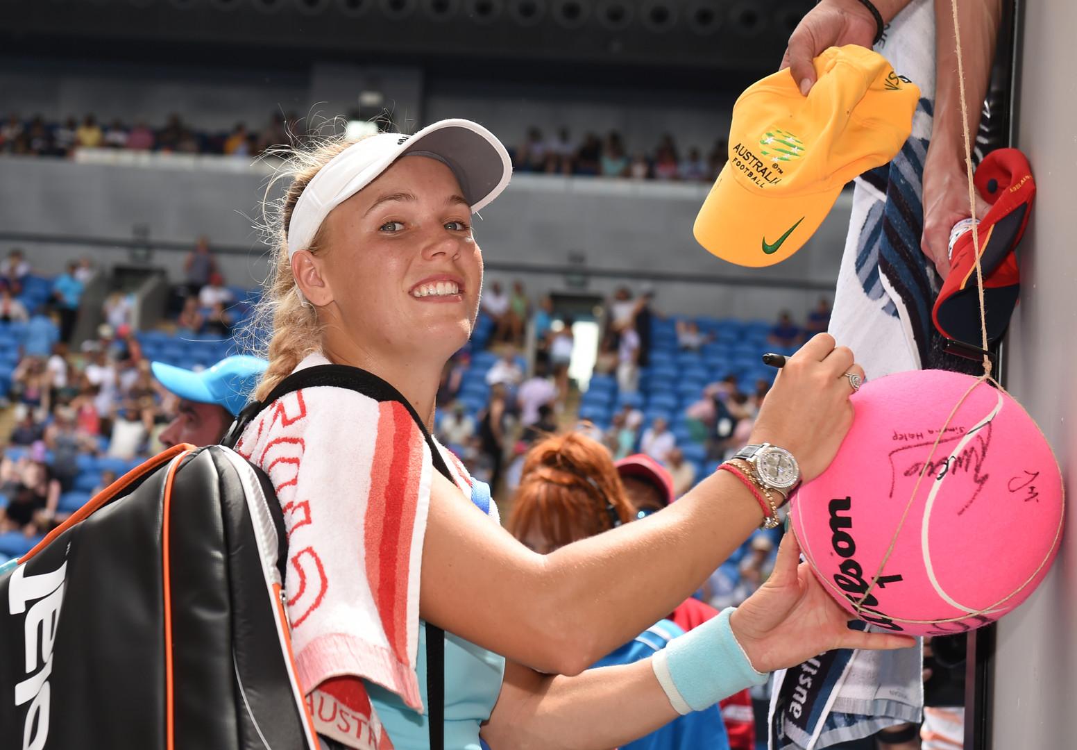 بالصور.. كفيتوفا وفوزنياتسكي إلى ثاني بطولة أستراليا للتنس