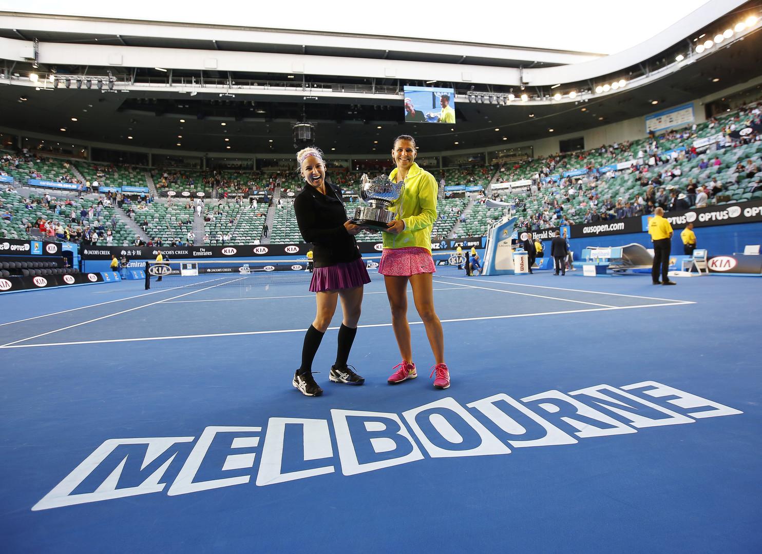 بالصور .. تتويج ساندز وسفاروفا بلقب زوجي السيدات لبطولة استراليا