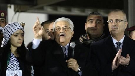 عباس والحمد الله في احتفالية لحركة فتح