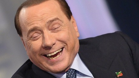 رئيس الوزراء الايطالي السابق سيلفيو برلسكوني في برنامج تلفزيوني في الـ22 من مايو/أيار 2014 في روما