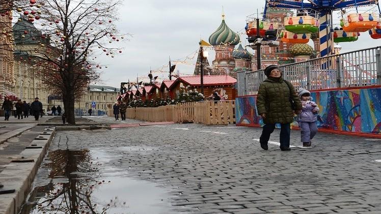 شتاء موسكو لم يشهد مثل هذا اليوم منذ 100 عام