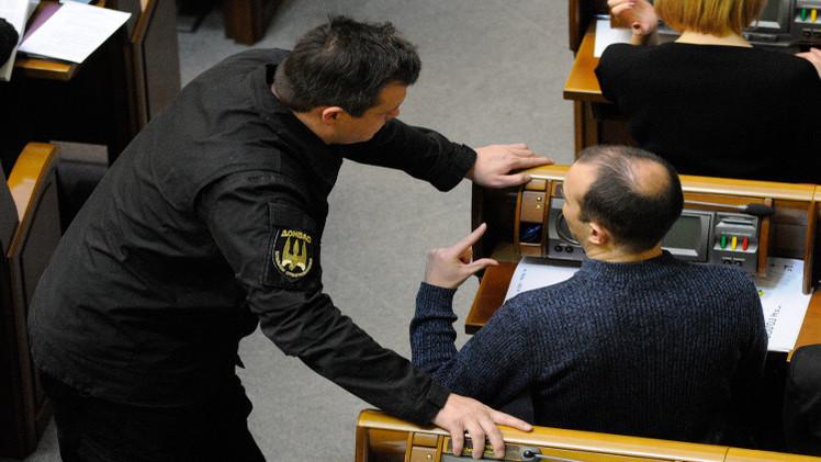 إصابة برلماني أوكراني قائد كتيبة