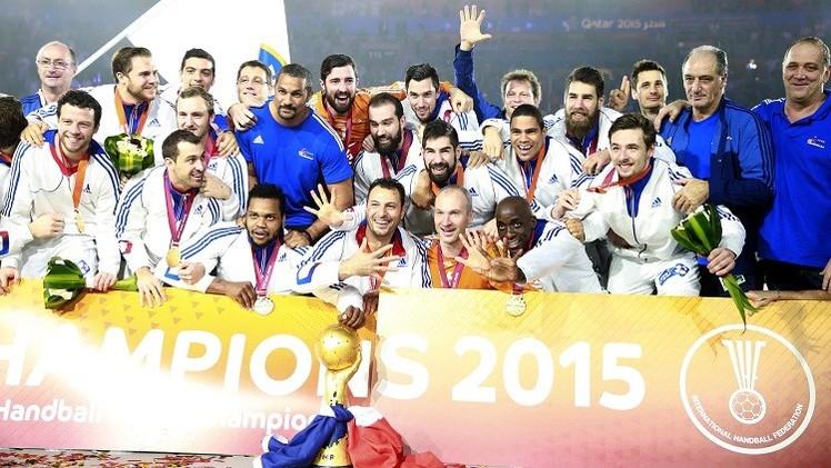 فرنسا بطلة لكأس العالم لكرة اليد 2015
