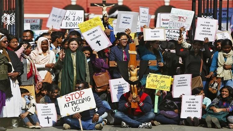 اشتباكات في نيودلهي بين الشرطة ومحتجين مسيحيين