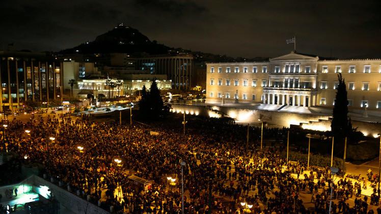 الآلاف يتظاهرون في أثينا دعما لرفض الحكومة إجراءات التقشف (فيديو)