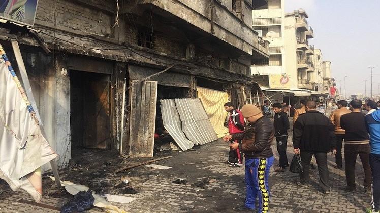 مقتل 36 في هجومين انتحاريين وسط  بغداد