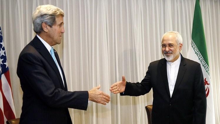 كيري وظريف يبحثان الملف النووي الإيراني للمرة الثانية